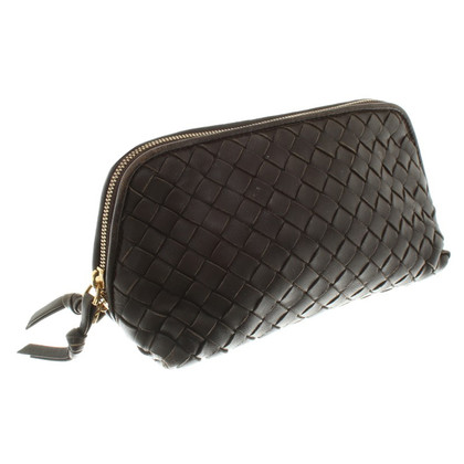 Bottega Veneta Cosmetic bag in marrone scuro