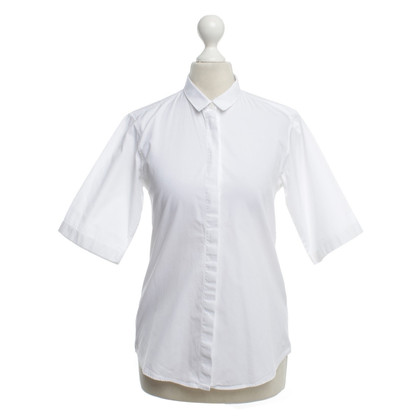 Jil Sander Short-sleeved blouse in white