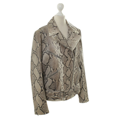 Wunderkind Python leather jacket