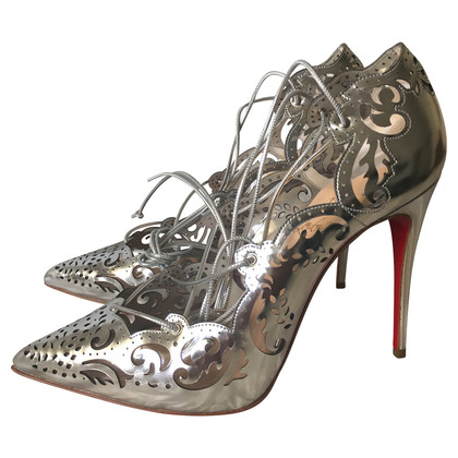 Christian Louboutin Silberfarbene Pumps