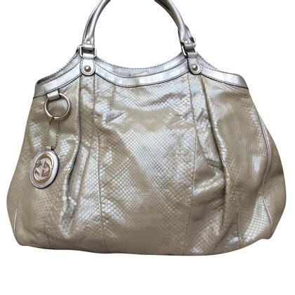 "Gucci Python leather ""Sukey Bag Large"""