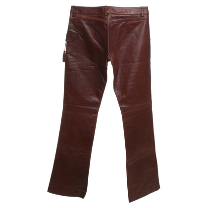 Just Cavalli Leather pants in brown