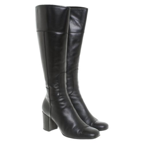 schöner Stil am besten billig Super süße Dolce & Gabbana Stiefel aus Leder in Schwarz - Second Hand ...