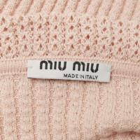 Miu Miu Pullover in Nude