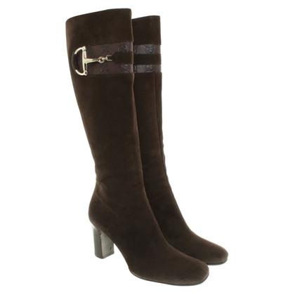 Gucci Suède laarzen in bruin