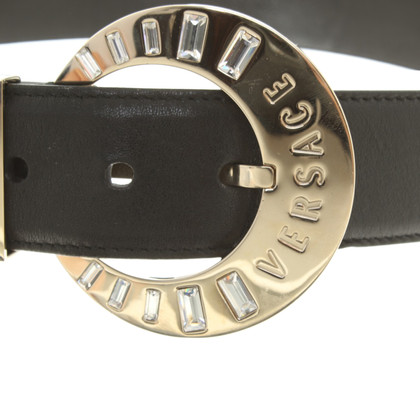 Versace Leather belt with jewelry