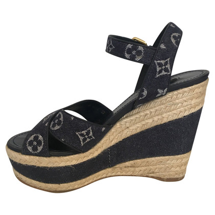 Louis Vuitton Wedges in denim blue
