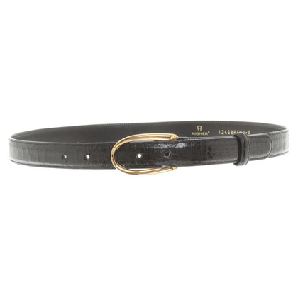 Aigner Belt in black