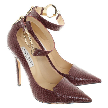 Jimmy Choo pumps of reptile leather
