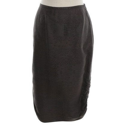 Giorgio Armani Silk skirt in dark brown