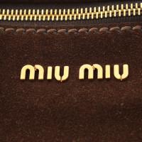 Miu Miu Schoudertas gemaakt van suède
