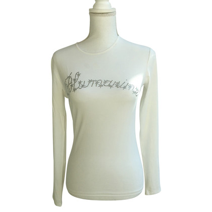 Blumarine T-shirt with rhinestone