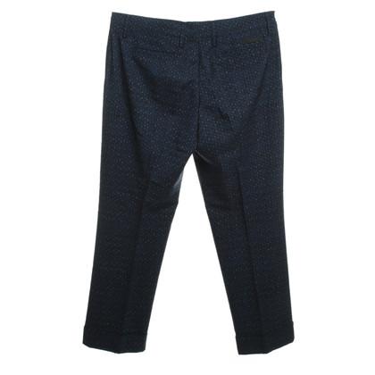 Prada Pantaloni con il reticolo blu