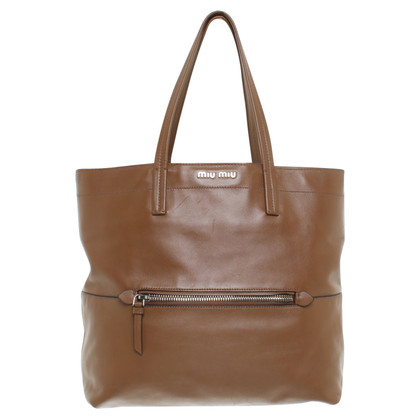 Miu Miu Tote Bag in brown