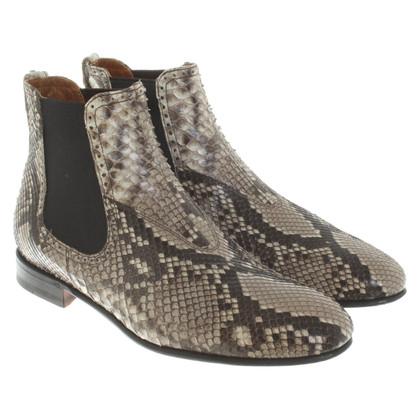Benson's Chelsea Boots aus Schlangenleder