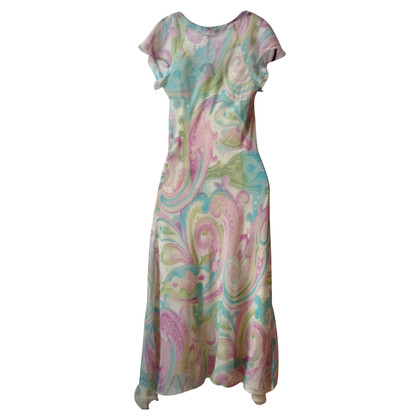 Missoni Robe en soie aux couleurs pastel