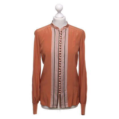 Chloé Zijden blouse in terracotta