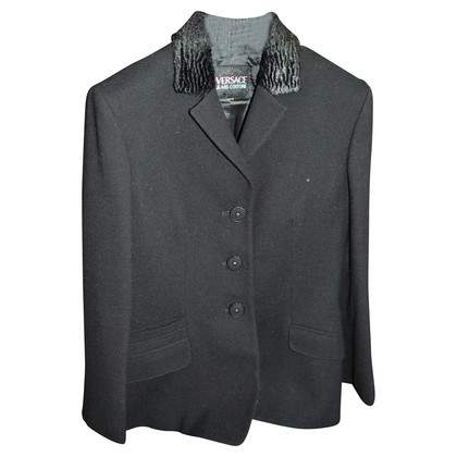 Gianni Versace Black wool jacket