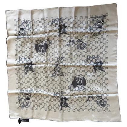 Gucci Zijden sjaal met honden motief