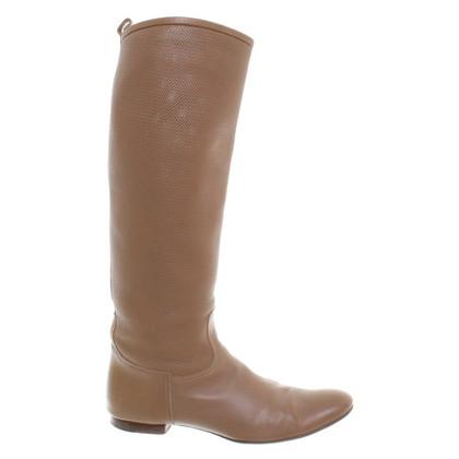 Hermès Marrone stivali da equitazione