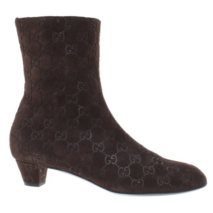 Gucci Ankle boots brown suede