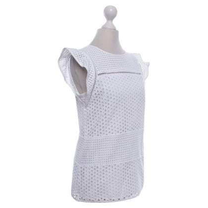 Michael Kors Witte blouse met kant gat