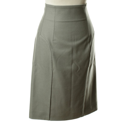 Yves Saint Laurent Grey skirt with decorative stitching