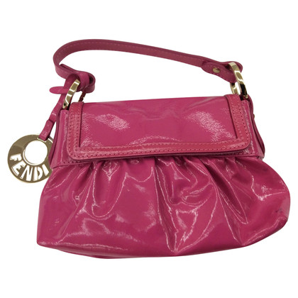 Fendi clutch patent leather