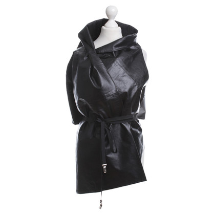 Ann Demeulemeester Leather vest for wrapping