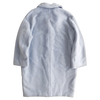 Max Mara Wool oversized coat in light blue