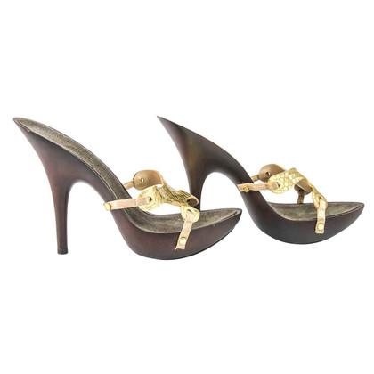 Giuseppe Zanotti Sandals of snakeskin