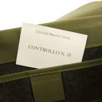 Céline Signature green bag