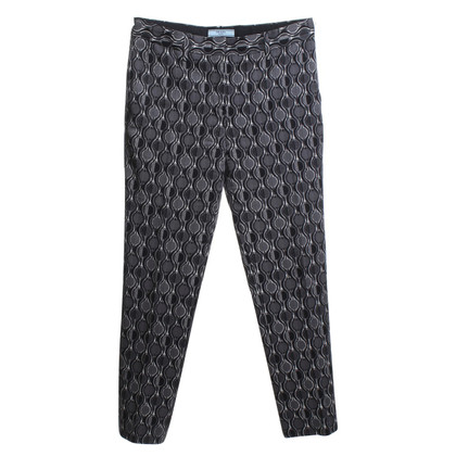 Prada trousers with weave pattern