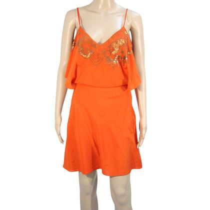 Karen Millen Silk dress in orange