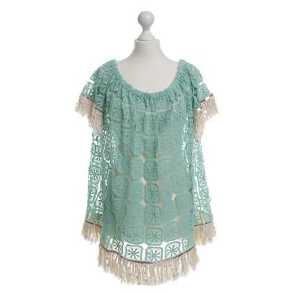 Other Designer Nizhoni - crochet top turquoise