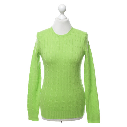 factory authentic f62cd 885ae Ralph Lauren Maglione in maglia di cashmere verde - Second ...