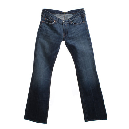7 For All Mankind Verontruste Jeans in Blauw