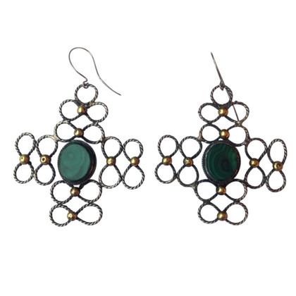 Other Designer Earrings Malachite silver