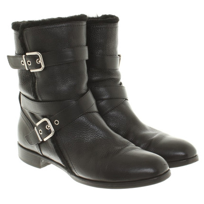 Gianvito Rossi Ankle boots with fur
