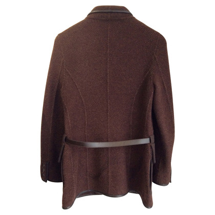 Loro Piana Cashmere jacket with leather details