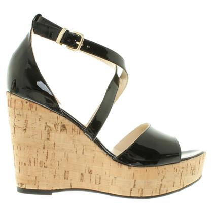Versace Sandaletten aus Lackleder
