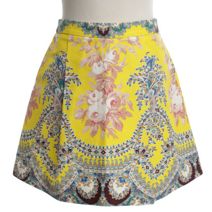 MSGM skirt with floral pattern