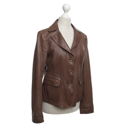 Armani Collezioni Leather Jacket in Bruin