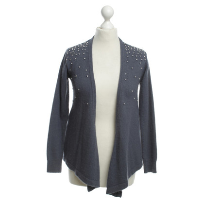 Reiss Strickjacke in Blau-Grau