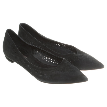 Louis Vuitton Suede ballerinas in black