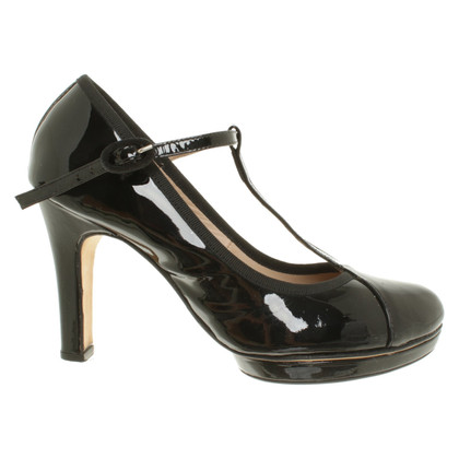 Repetto Plateau-Pumps in Schwarz