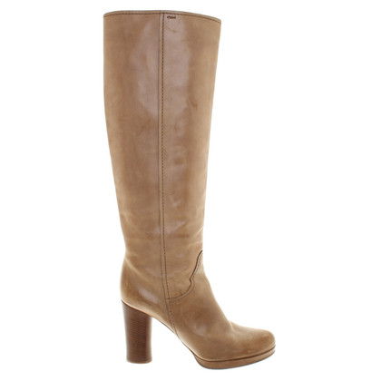Chloé Leather boots in used look