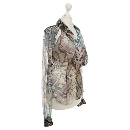 Just Cavalli Silk blouse with print