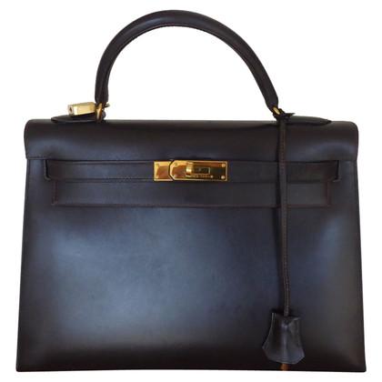 "Hermès ""Kelly Bag 32 Box Calf Leather"""