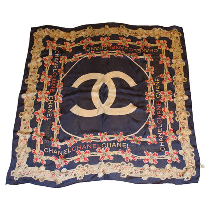 Chanel Zijden sjaal blauw